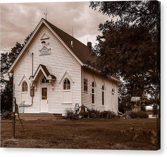 Canvas Print featuring the photograph Harmony School by Edward Peterson