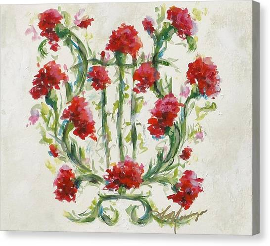 Chi Omega Canvas Print - Harmony by Susie Monzingo