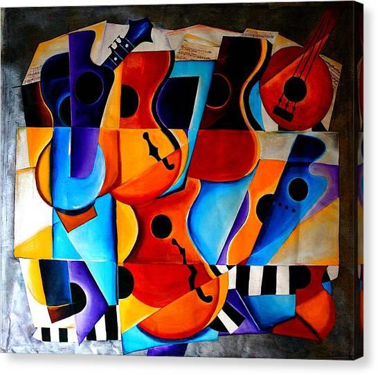 Banjos Canvas Print - Harmony by Vel Verrept