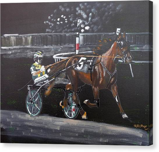 Harness Racing Canvas Print