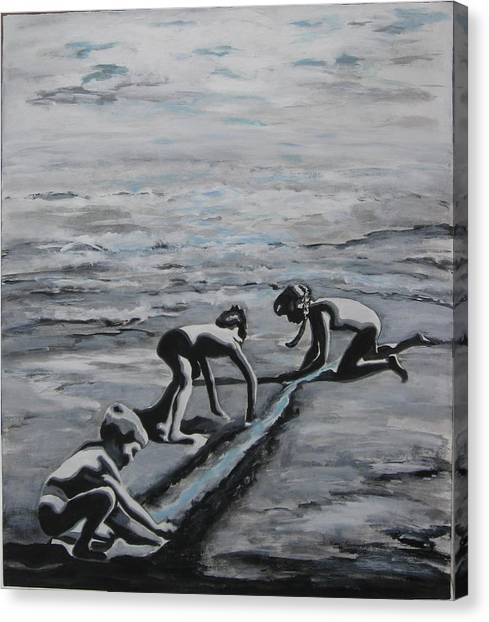 Harnessing The Ocean Canvas Print by Naomi Gerrard