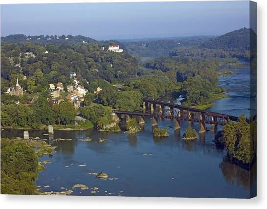 Harpers Ferry West Virginia From Above Canvas Print