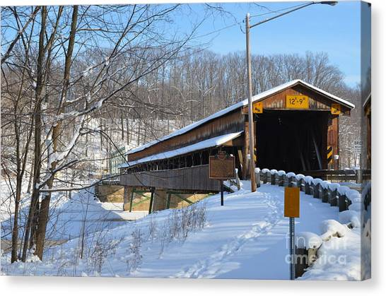 Harpersfield Covered  Bridge Ohio Canvas Print