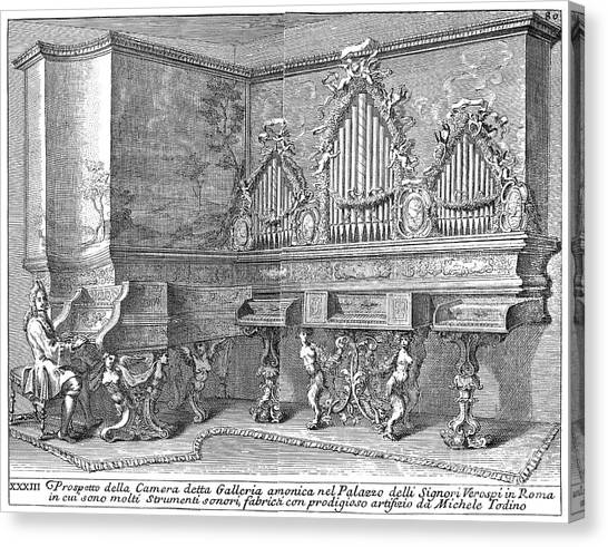 Harpsichords Canvas Print - Harpsichord & Spinets, 1723 by Granger