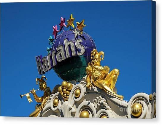 Harrah's Casino Sign On The Las Vegas Strip Canvas Print