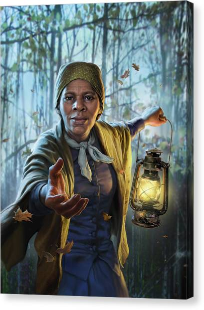 Racism Canvas Print - Harriet Tubman by Mark Fredrickson