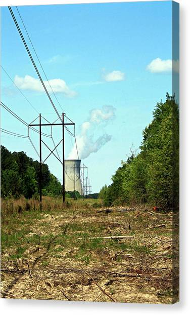Nuclear Plants Canvas Print - Harris Nuclear Power Plant by Selena Wagner