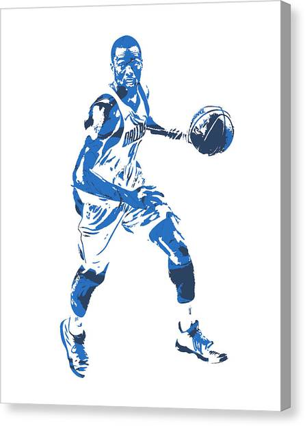 Dallas Mavericks Canvas Print - Harrison Barnes Dallas Mavericks Pixel Art 10 by Joe Hamilton