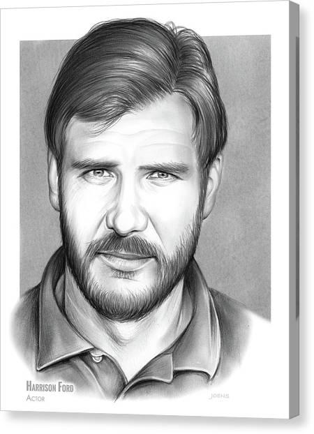 Harrison Canvas Print - Harrison Ford by Greg Joens