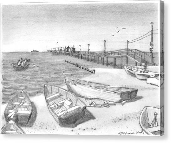 Harrisons Pier Ocean View Canvas Print