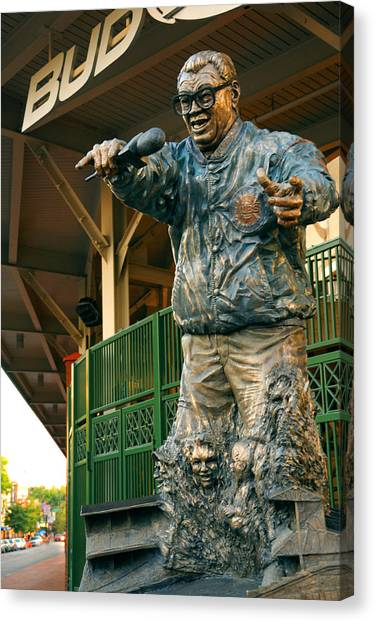 Harry Caray Canvas Print
