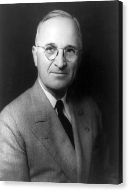 U. S. Presidents Canvas Print - Harry S Truman - President Of The United States Of America by International  Images