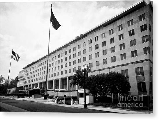 Harry Truman Canvas Print - Harry S Truman Building Headquarters Of The State Department Washington Dc Usa by Joe Fox