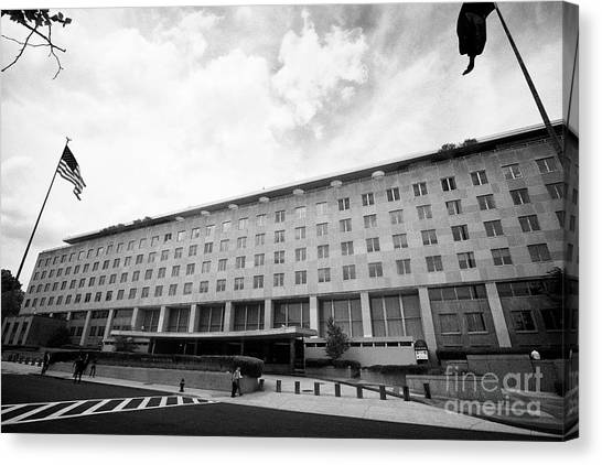 Harry Truman Canvas Print - harry s truman department of state building Washington DC USA by Joe Fox