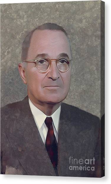 Harry Truman Canvas Print - Harry S. Truman, President by Mary Bassett