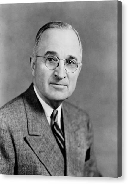 Harry Truman Canvas Print - Harry Truman - 33rd President Of The United States by War Is Hell Store
