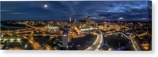Hartford Ct Night Panorama Canvas Print