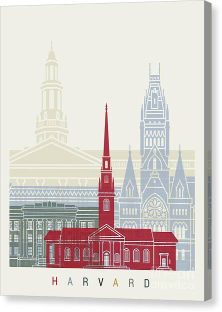 Harvard Canvas Print - Harvard Skyline Poster by Pablo Romero