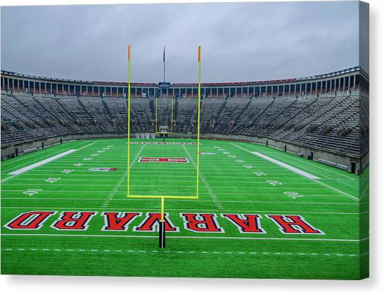 Patriot League Canvas Print - Harvard - Soldier Field by Bill Cannon