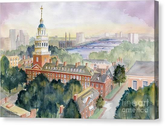 Harvard University Canvas Print - Harvard University by Melly Terpening