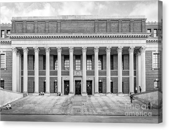 Harvard University Canvas Print - Widener Library At Harvard University by University Icons