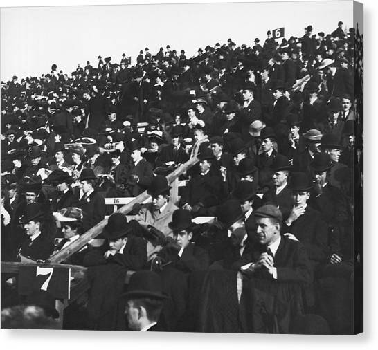Boston College Canvas Print - Harvard-yale Football Fans by Underwood Archives