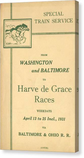 Harve De Grace Races Canvas Print