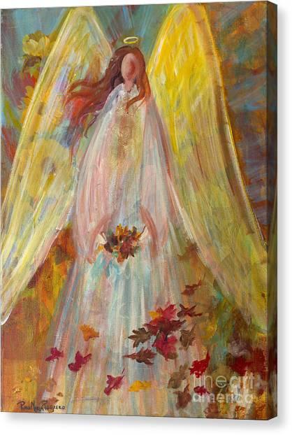 Harvest Autumn Angel Canvas Print