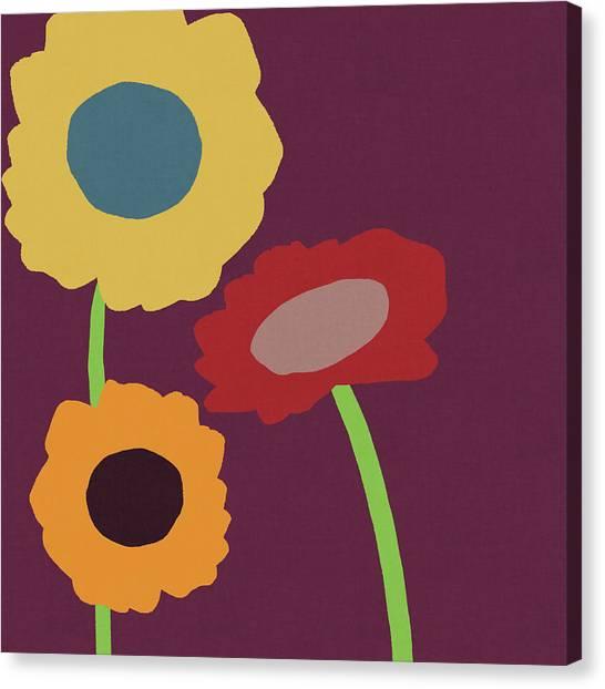 Harvest Canvas Print -  Harvest Flowers Purple- Art By Linda Woods by Linda Woods