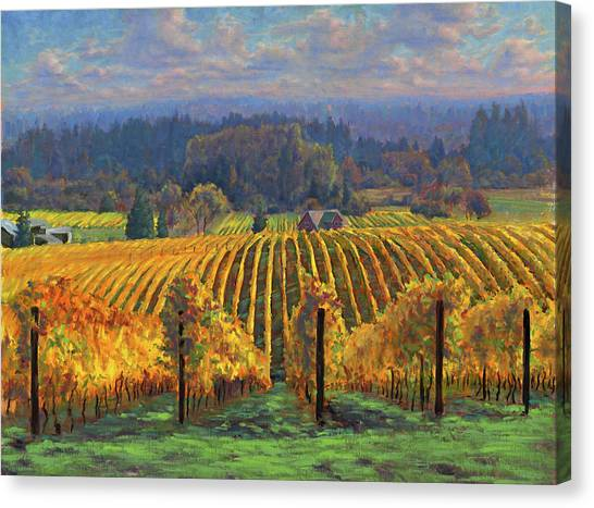 Gold Canvas Print - Harvest Gold by Michael Orwick