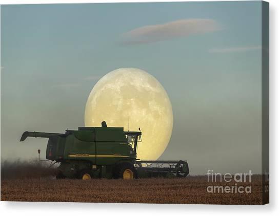 Canvas Print featuring the photograph Harvest Moon by Brad Allen Fine Art