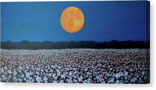 Canvas Print featuring the painting Harvest Moon by Jeanette Jarmon