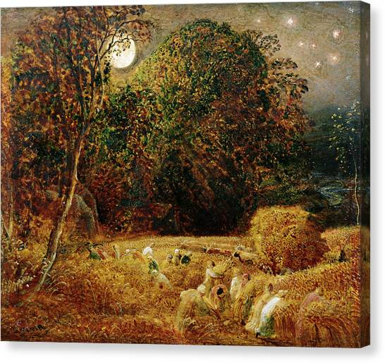 Full Moon Canvas Print - Harvest Moon by Samuel Palmer