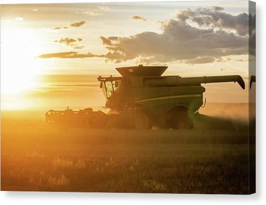 John Deere Canvas Print - Harvest Sun by Todd Klassy