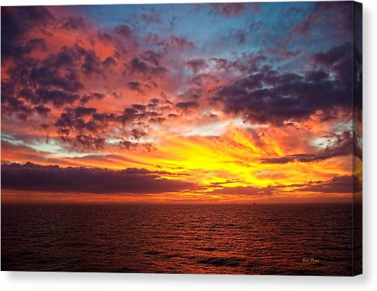 Harvest Sunrise In The Gulf  Canvas Print by Bill Perry