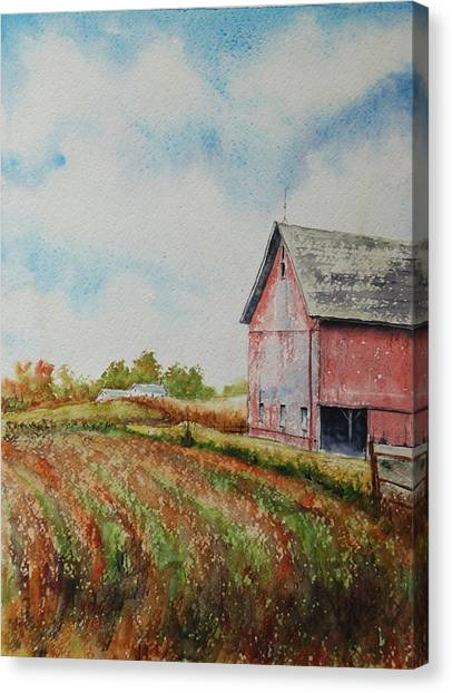 Harvest Time Canvas Print by Mike Yazel