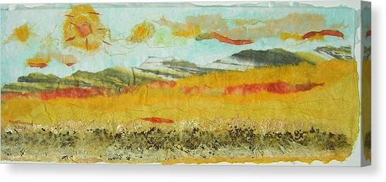 Harvest Time On The Prairies Canvas Print by Naomi Gerrard