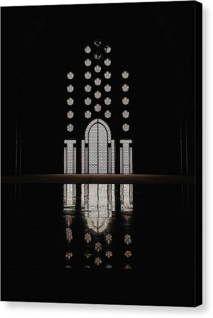 Hassan II Mosque Canvas Print