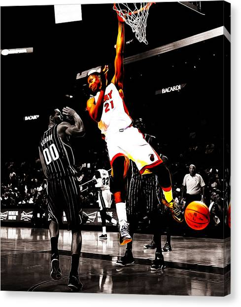 Sacramento Kings Canvas Print - Hassan Whiteside by Brian Reaves