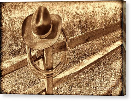 Hat And Lariat Canvas Print