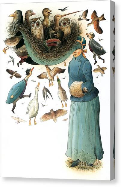 Hat Canvas Print by Kestutis Kasparavicius