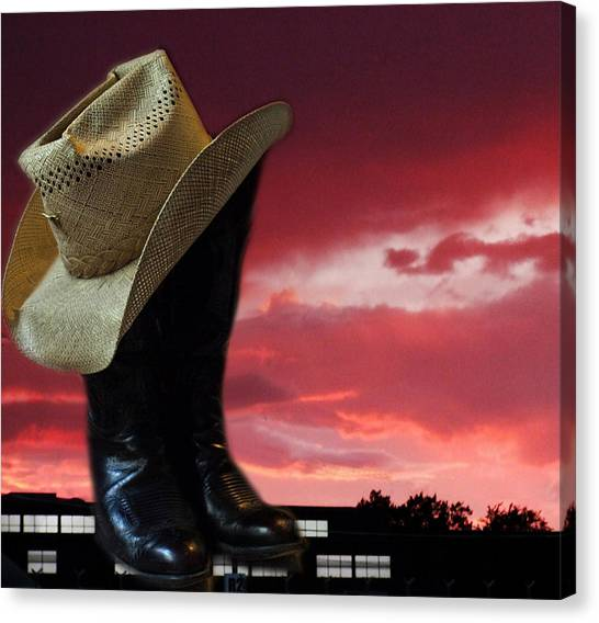 Hat N Boots 11 Canvas Print by Chuck Shafer