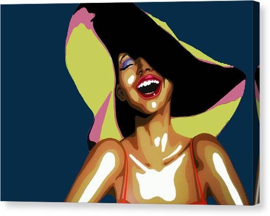 Hat Woman Canvas Print by Heli Luukkanen