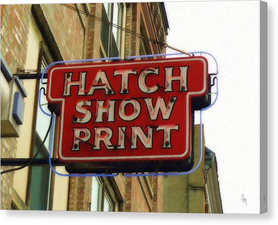 Hatch Show Print Canvas Print