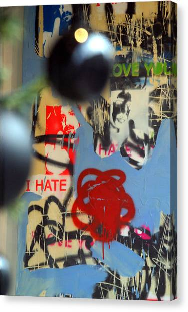 Hate Love Hate Love Canvas Print by Jez C Self
