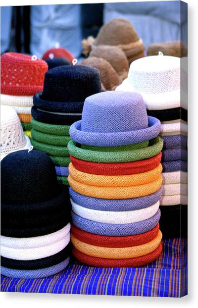 Hats, Aix En Provence Canvas Print