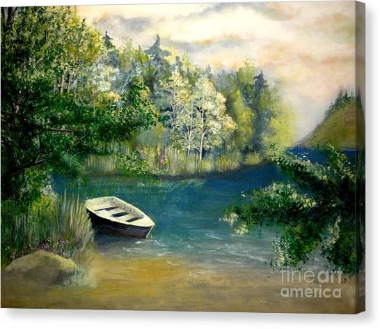 Hatzec Lake Canvas Print by Vivian  Mosley