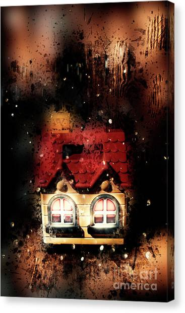 Real Estate Canvas Print - Haunted Doll House by Jorgo Photography - Wall Art Gallery