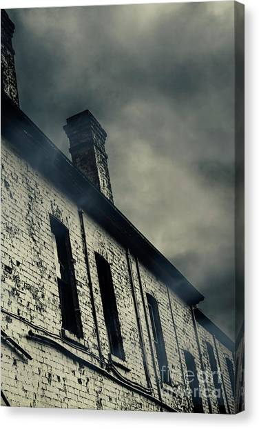 Haunted House Canvas Print - Haunted House Details by Jorgo Photography - Wall Art Gallery