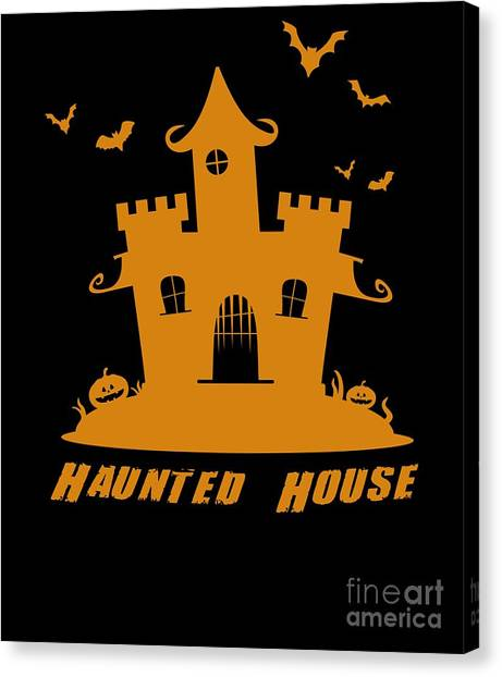 Canvas Print - Haunted House Halloween Costume by Thomas Larch